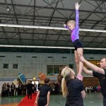 Sportakroatiktraining zur Offizielle Neuerffnung der Jahnsporthalle      Foto: Gernot Menzel