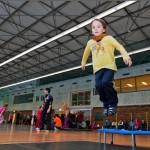 Kindersport zur Offizielle Neueröffnung der Jahnsporthalle     Foto: Gernot Menzel