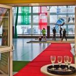 Sektempfang zur Offizielle Neueröffnung der Jahnsporthalle     Foto: Gernot Menzel
